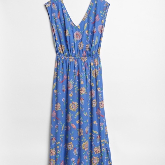Gap Dresses Floral Cap Sleeve Maxi Dress In Rayon The Poshmark